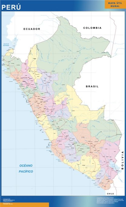 peru vinyl sticker maps