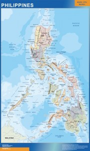philippines framed maps