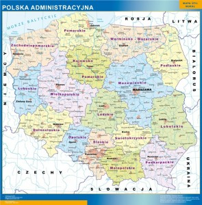 poland framed maps