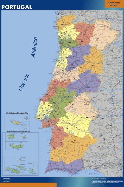 portugal framed maps