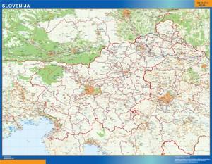 slovenia vinyl sticker maps
