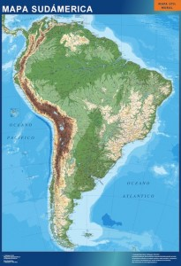 south america framed map