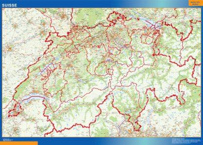 switzerland framed maps