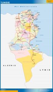 tunis vinyl sticker maps