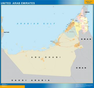 united arab emirates framed maps