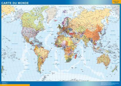 world framed map french