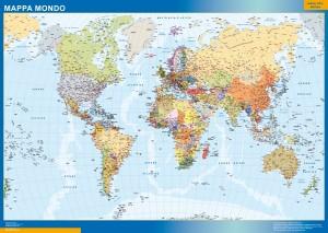 world framed map italian