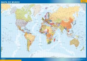 world framed map portuguese