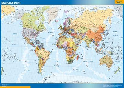 world framed map spanish