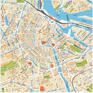 Amsterdam Vector Map