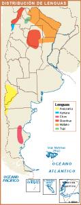 Argentina mapa lenguas