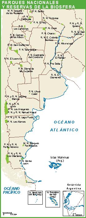 Argentina mapa parques
