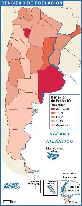 Argentina mapa poblacion