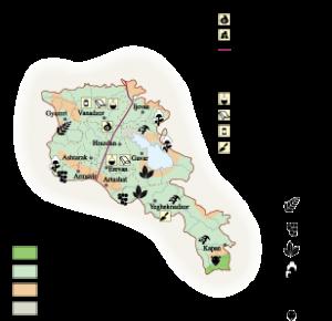Armenia Economic map