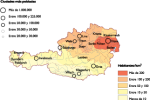 Austria Population map