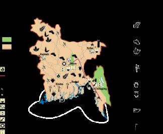 Bangladesh Economic map