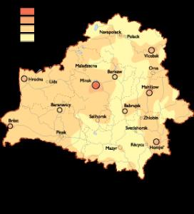 Belarus Population map