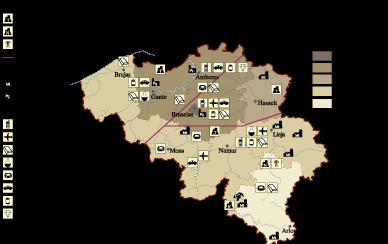 Belgium Economic map