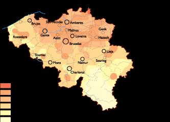 Belgium Population map