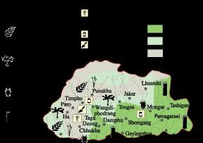 Bhutan Economic map