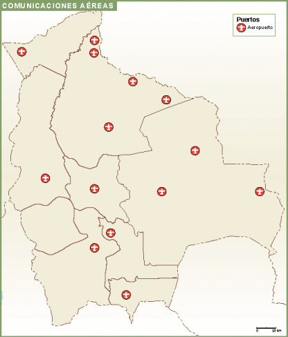 Bolivia mapa comunicacion