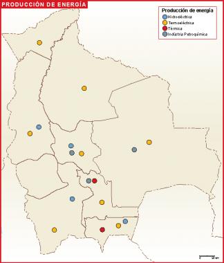 Bolivia mapa energia