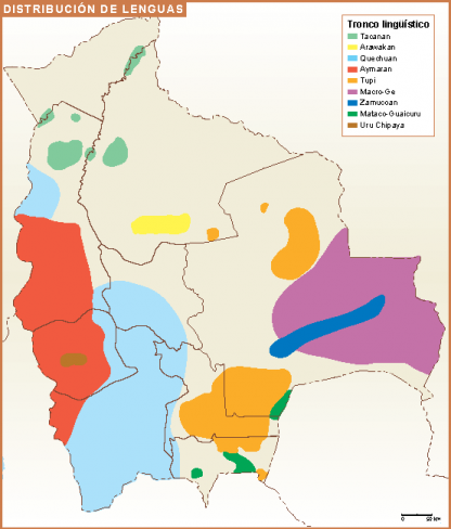 Bolivia mapa lenguas
