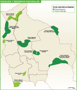 Bolivia mapa parques