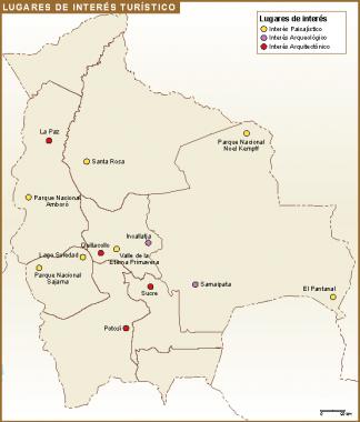 Bolivia mapa turismo