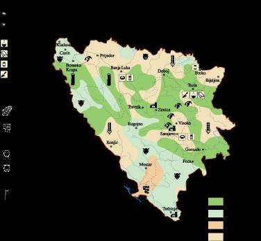 Bosnia Herzegovina Economic map