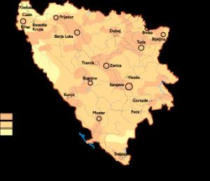 Bosnia Herzegovina Population map