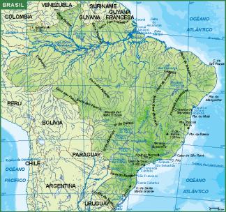 Brasil mapa fisico