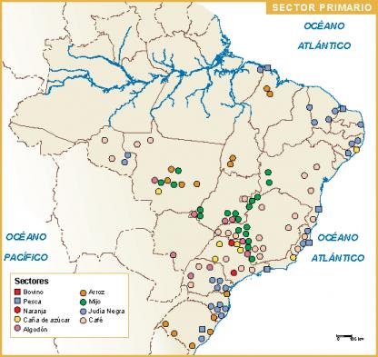 Brasil mapa sector primario