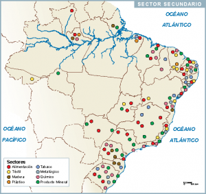Brasil mapa sector secundario