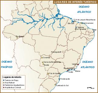 Brasil mapa turismo