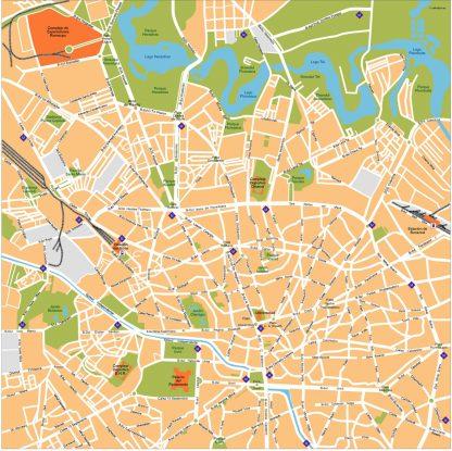 Bucarest Vector Map