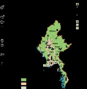 Burma Economic map