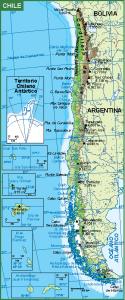 Chile mapa fisico