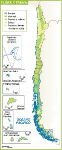 Chile mapa flora fauna