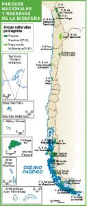 Chile mapa parques