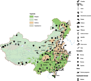 China Agricultural map