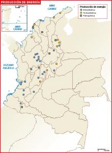 Colombia mapa energia
