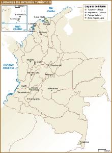 Colombia mapa interes turistico