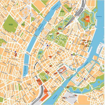 Copenhagen Vector Map