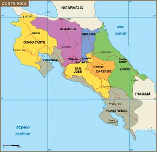 Costa Rica mapa