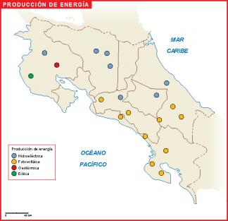 Costa Rica mapa energia