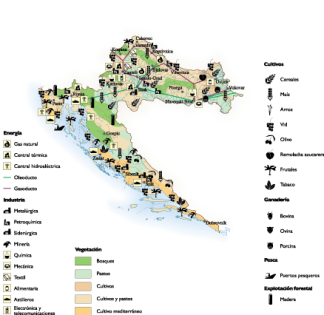 Croatia Economic map