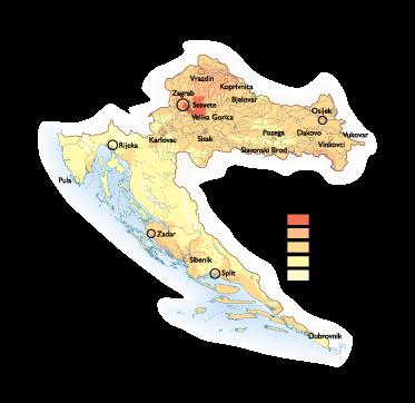 Croatia Population map
