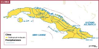 Cuba mapa clima