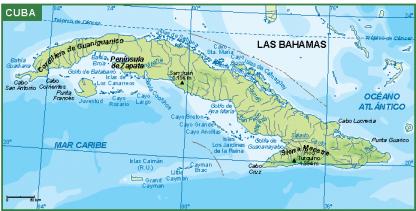 Cuba mapa fisico